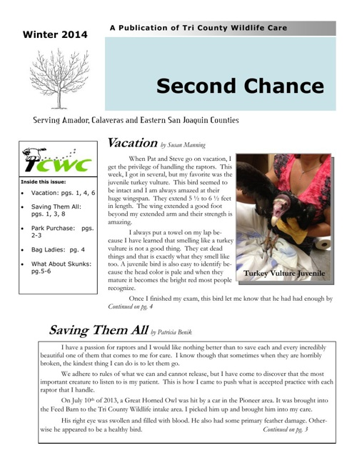 TCWC Newsletter Winter 2014