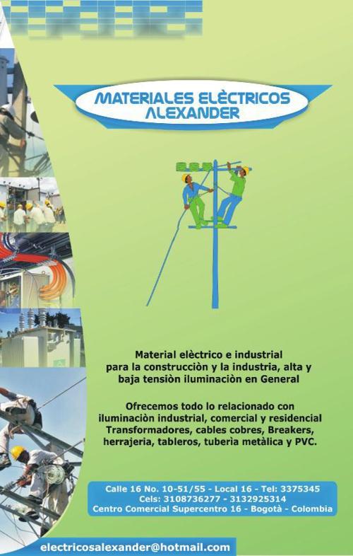 BROCHURE ELECTRICOS ALEXANDER 1