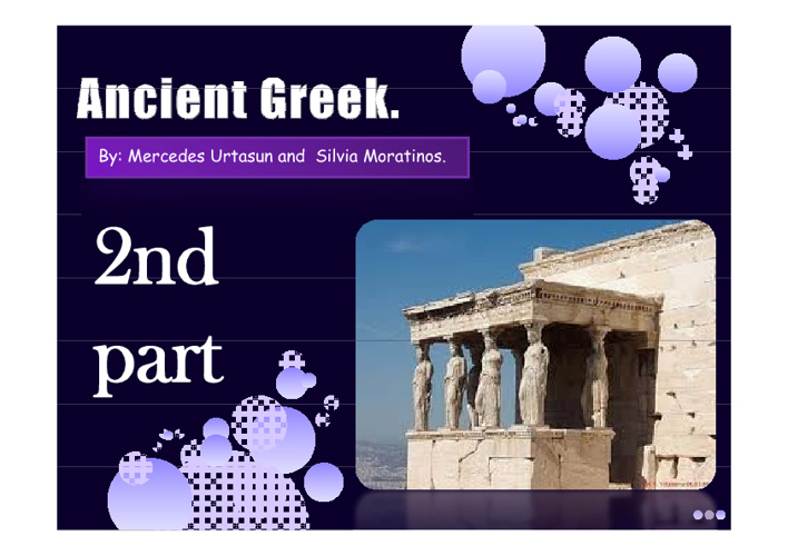 Second part of the project of Acient Greek.
