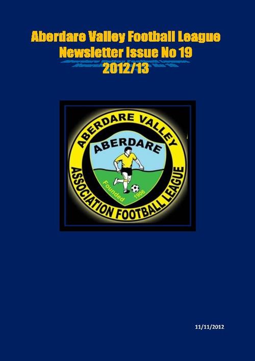 ABERDARE VALLEY FOOTBALL LEAGUE NEWSLETTER ISSUE 19
