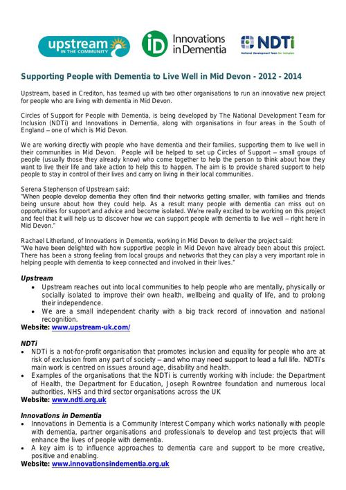 Circles of Support '12-'14 - Report