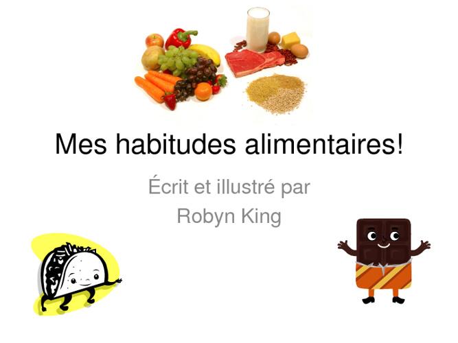 Mes habitudes alimentaires de robyn!