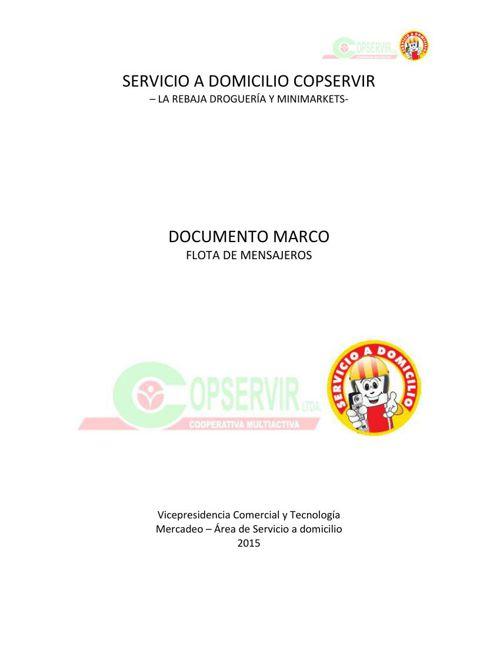 DOCUMENTO MARCO FLOTA MENSAJEROS 2015