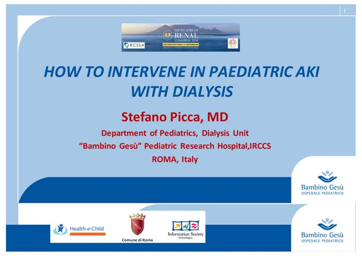 How to intervene in Pediatric AKI with dialysis