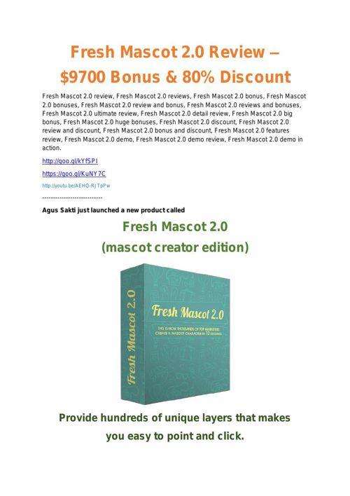 Fresh Mascot Vol2 review and (COOL) $32400 bonuses