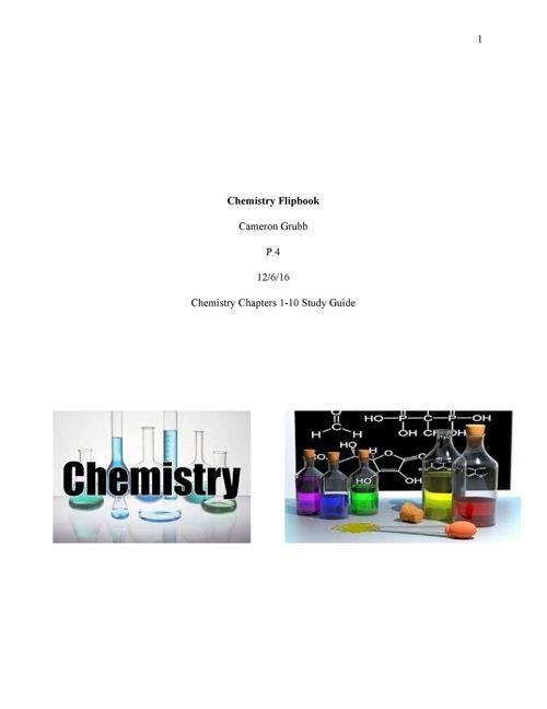 Chemistry Study Guide Midterm