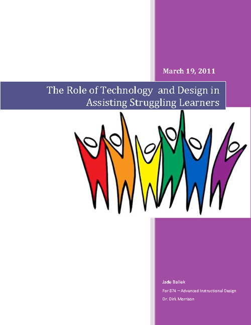 The Role of Technology and Design in Assisting Struggling Learne