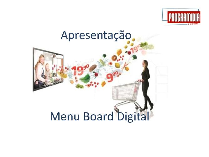 Programidia Menu Board Apresentação