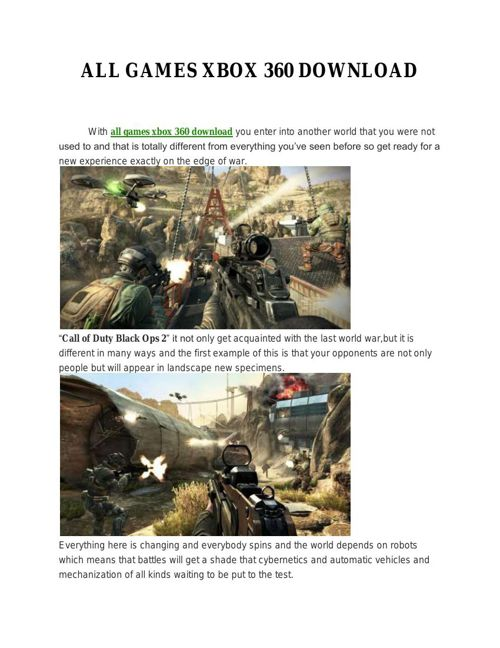 ALL GAMES XBOX 360 DOWNLOAD