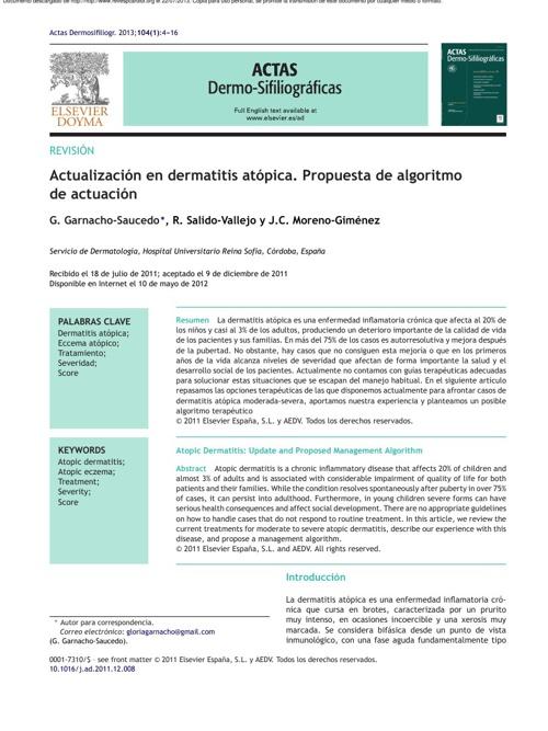 DERMATITIS ATOPICA ARTICULO
