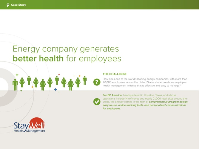 Case Study: Energy Company Generates Better Health