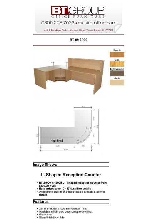 Reception Desks (Products 1-50)