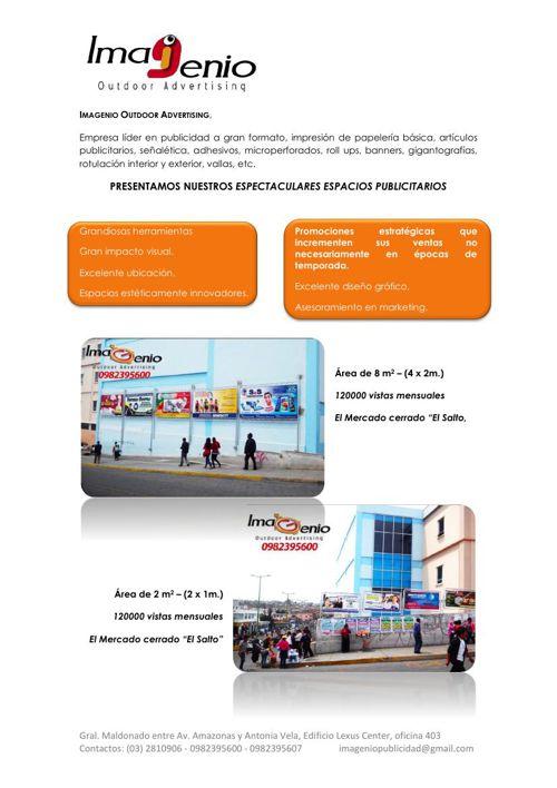 PRESENTACIÓN ESPACIOS PUBLICITARIOS IMAGENIO