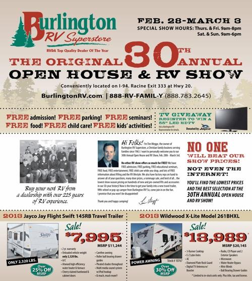 Burlington RV 30th Annual Open House and RV Show
