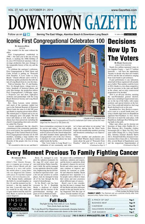 Downtown Gazette     October 31, 2014