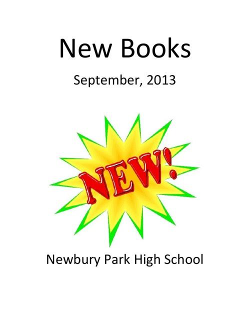 New Books September 2013