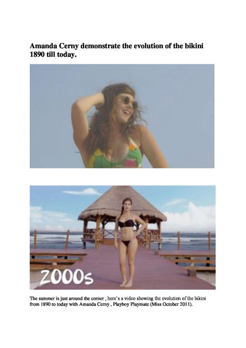 Evolution of the Bikini by mybreezylife.com