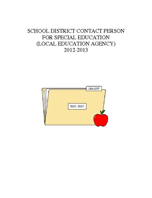 SCHOOL CALENDARS AND LEA LIST 2012-13