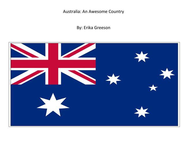 Erika: Australia