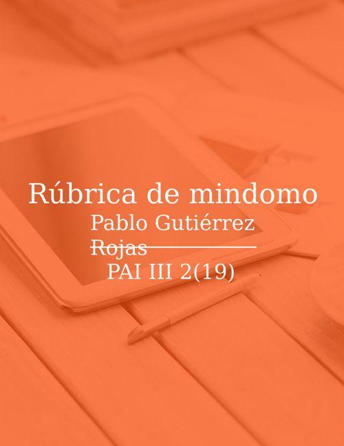 Copia de Copia de RÚBRICA DE MINDOMO