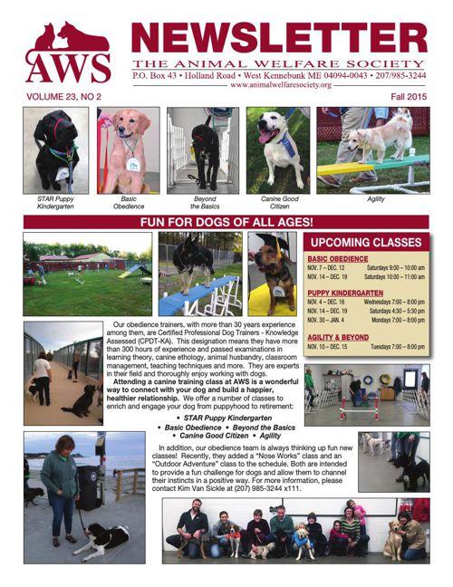 AWS Fall 2015 Newsletter