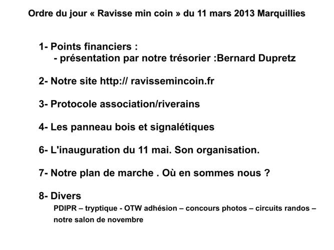 Réunion 11 mars 2013