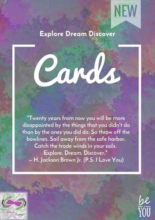 Cards for Explore Dream Discover