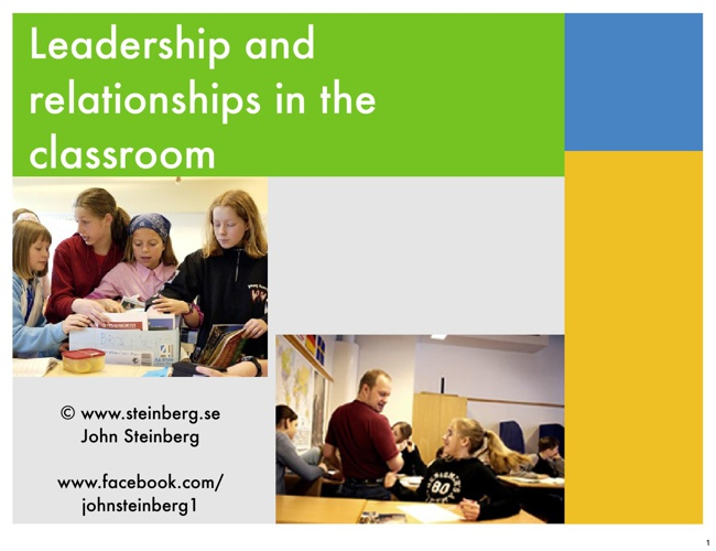 Leadership in the classroom (lecture slides in English)