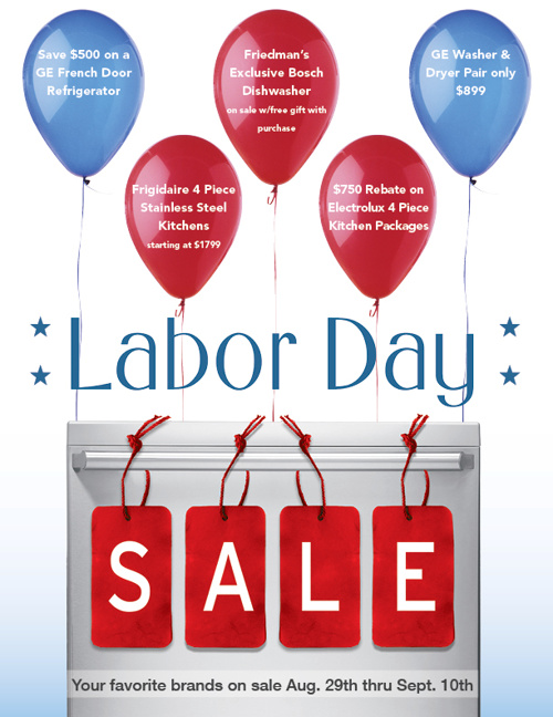 Friedman's Labor Day Sale