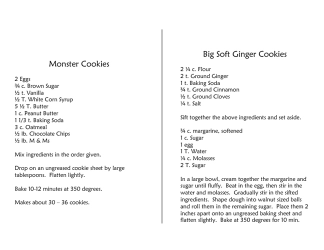 Margie's Recipe Book volume 3