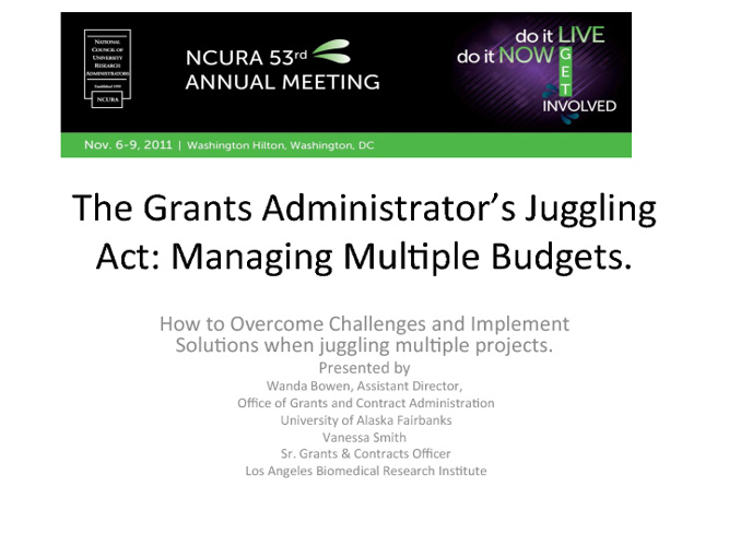 Managing Multiple Budgets