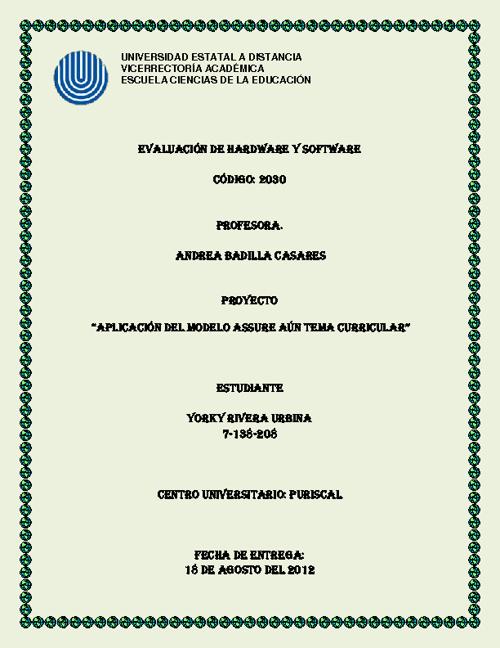 """Copy of """"Aplicación del modelo ASSURE aún tema curricular"""""""