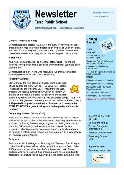 Newsletter Feb 13 2017 PDF