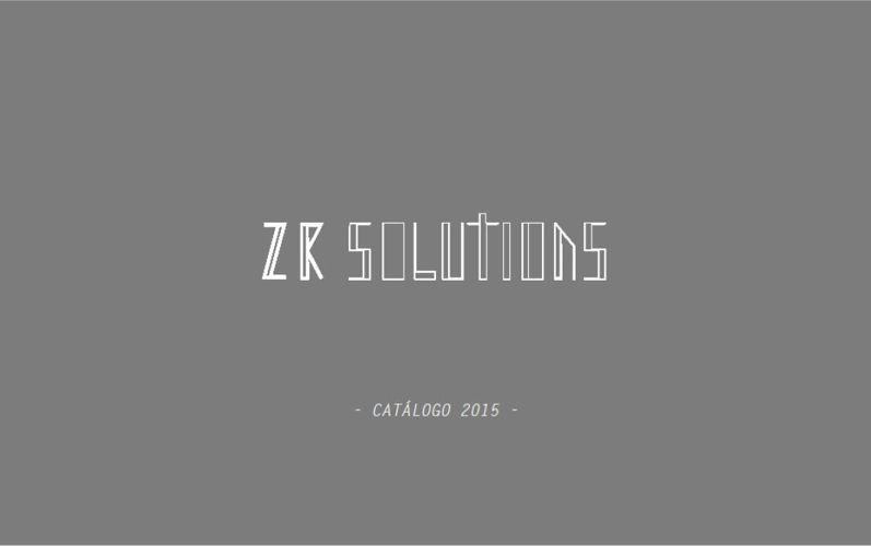 ZR Solutions - Catálogo