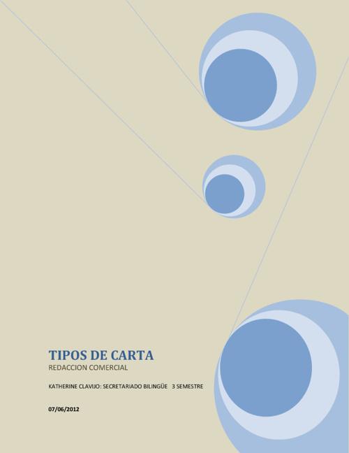 LIBRO TIPOS DE CARTA