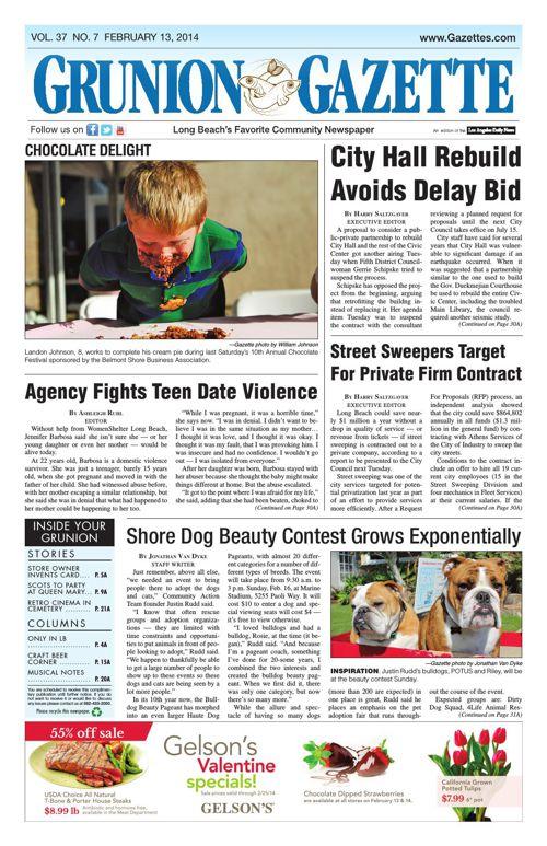 Grunion Gazette | February 13, 2014