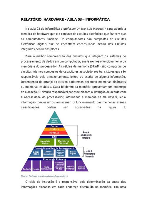 Relatório Aula 03 - Informática