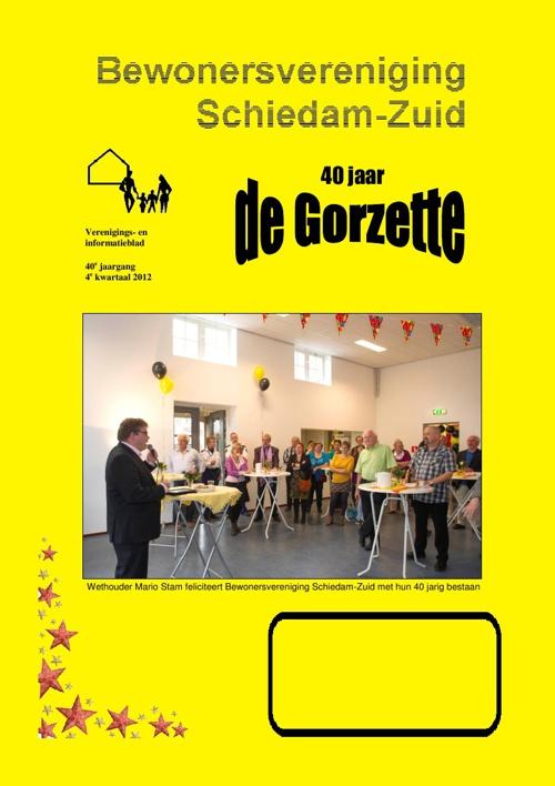 Gorzette 4e kwartaal 2012