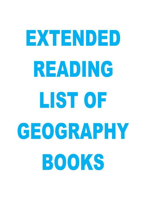 Extended Reading List of Geography Books