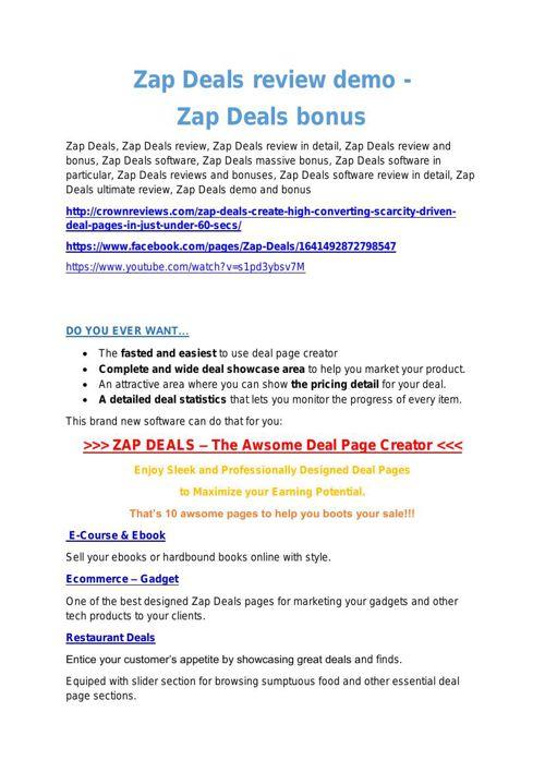 Zap Deals review-(SHOCKED) $21700 bonuses