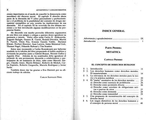 Carlos Santiago Nino Ética y derechos humanos