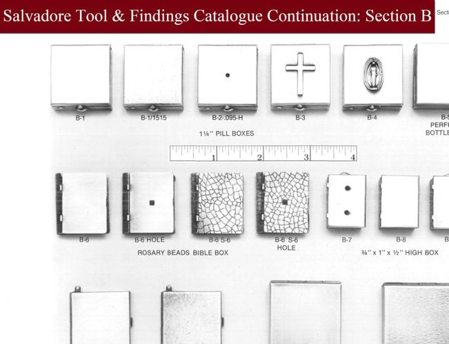 Salvadore Tool Catalogue Section B