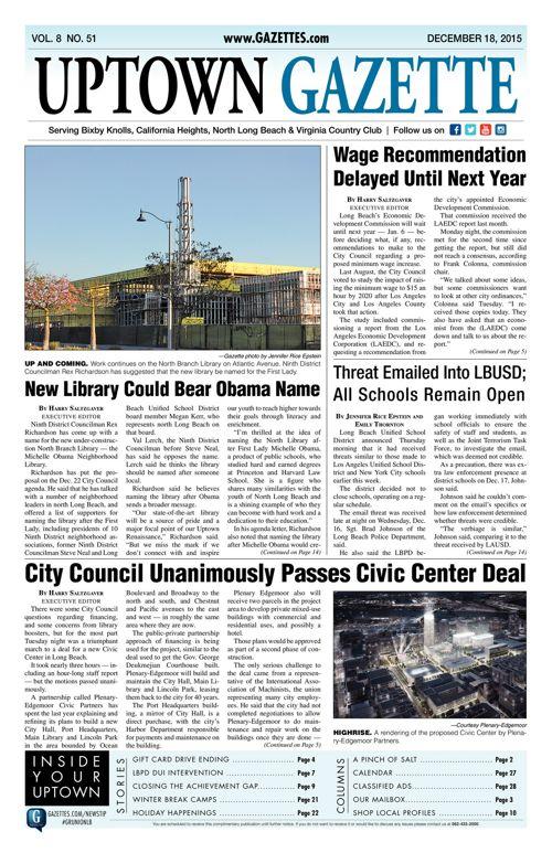 Uptown Gazette  |  December 18, 2015