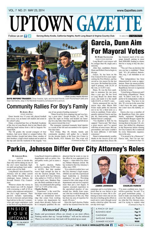 Uptown Gazette     May 23, 2014