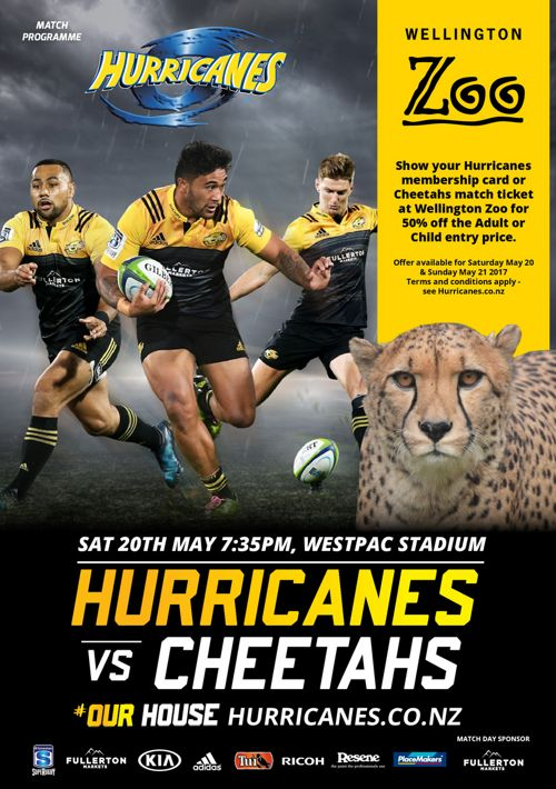 Match Programme Hurricanes v Cheetahs