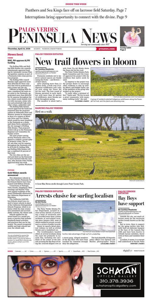 Peninsula News | April 14, 2016