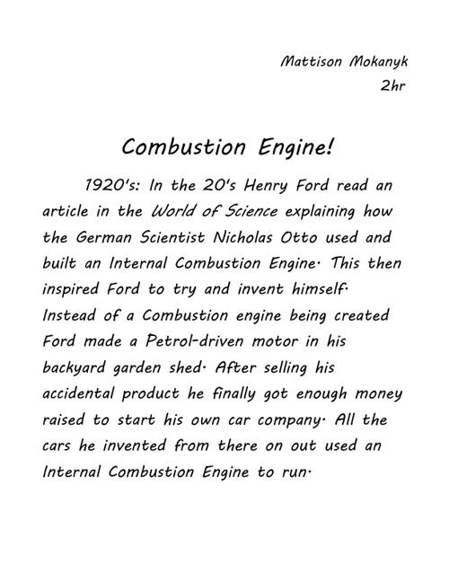 Internal Combustion Engine 2hr Maxbauer