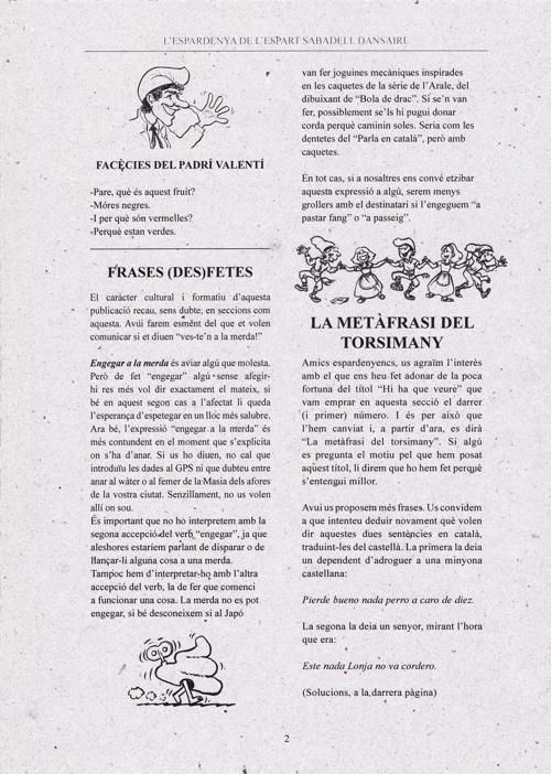 L'Espardenya de l'Espart Sabadell Dansaire núm. 2
