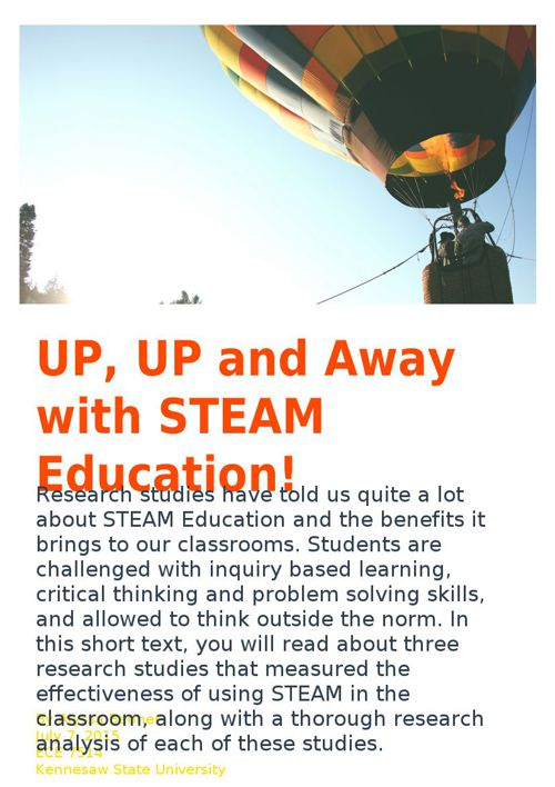 Up, Up, and Away with STEAM Education
