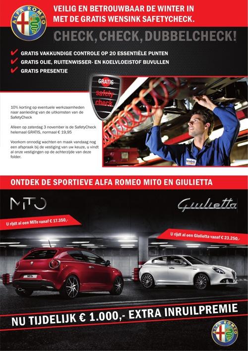 Krant Alfa Romeo